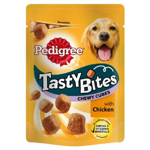 Pedigree Tasty Bites - Dog Treats Chewy Cubes with Chicken 130g